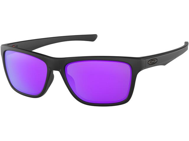 Oakley Holston Sunglasses matte black/violet iridium